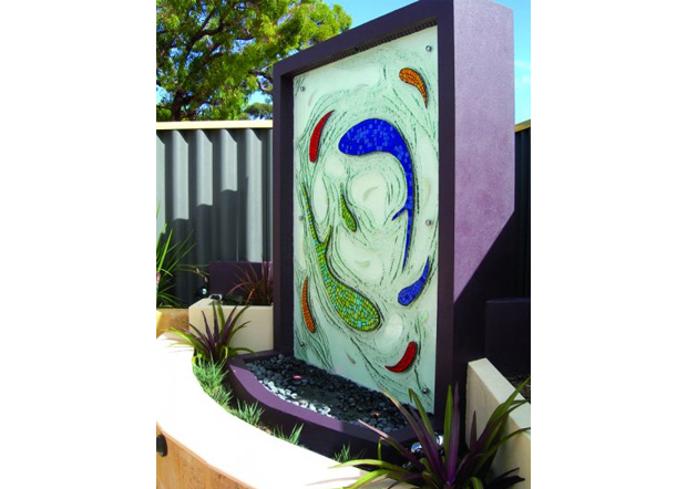 garden outdoor glass feature