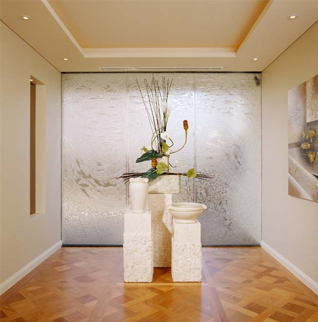 Decorative Slumped Glass partition