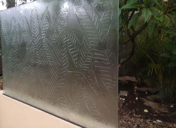 outdoor glass garden sculpture