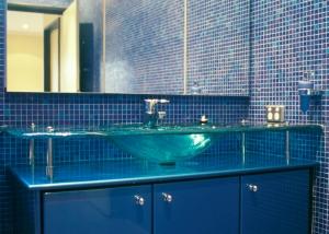 Bathroom Glass Vanity & Basin