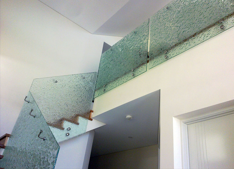 Glass Slumped Stair Balustrade