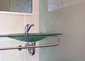 Glass Bathroom Vanity & Basin