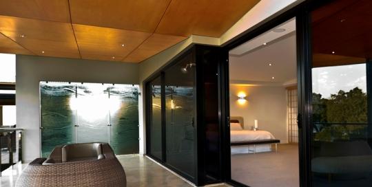 Slumped Glass Balcony Privacy screen