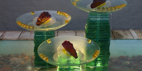 Water Feature glass sculpture