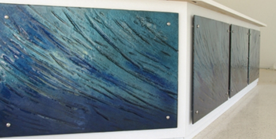 Ocean theme Glass Panel