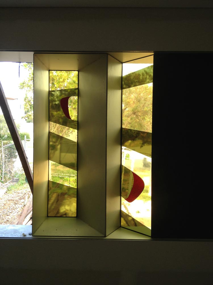 Colour laminated feature window