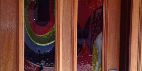 Coloured Glass Front Door