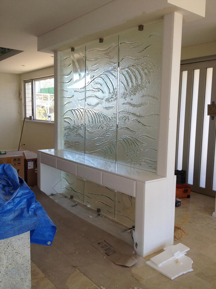 Slumped Glass partition Beach
