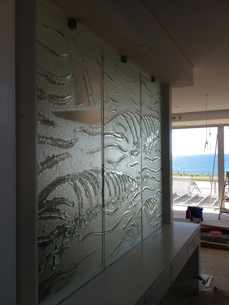 Slumped Glass partition Beach