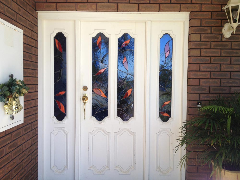 Contemporary Front Door Leadlight & Contemporary Front Door Leadlight \u2013 Perth Art Glass