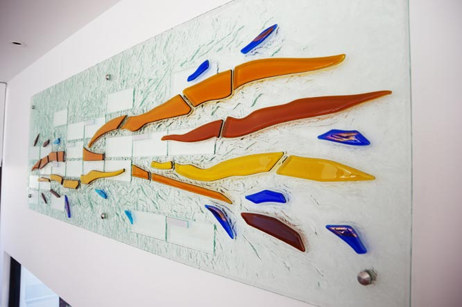 Glass textured colour wall art