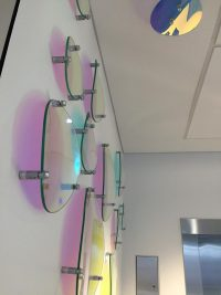 Curved Dichroic Glass wall feature