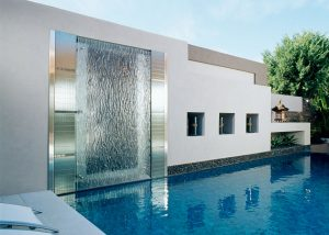 glass water features