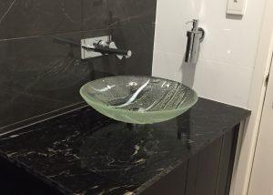 glass hand basin bathroom