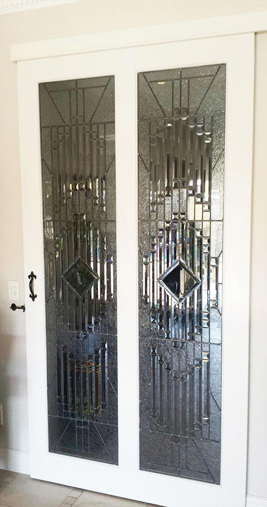 glass bevels, bevelled doors