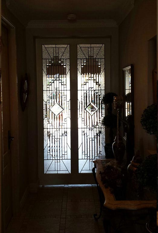 glass bevels, leadlight doors