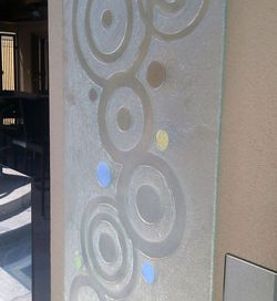 glass textured Dichroic outdoor feature