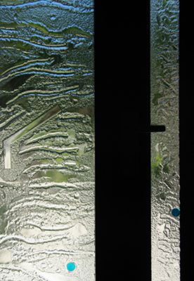 Textured glass Front Door Entry