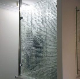 slumped glass privacy screen