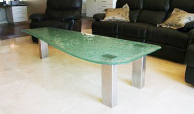 custom slumped table