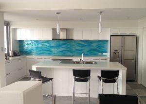 textured glass splashback