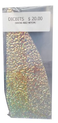 Dichroic Glass rainbow clear moss
