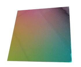 rainbow dichroic glass on black
