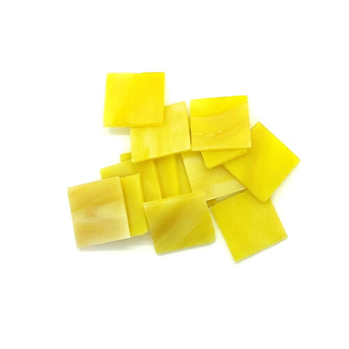 yellow vision glass mosaic tiles in pile