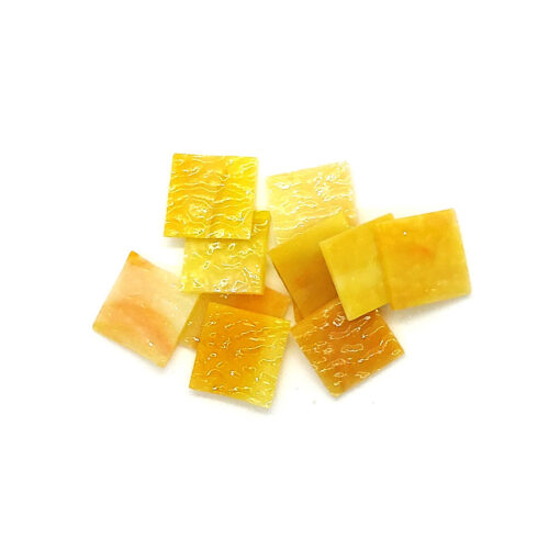 gold yellow vision glass mosaic tiles in pile