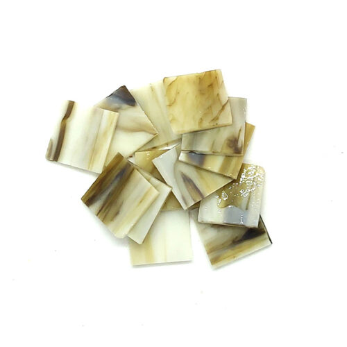 yellow and brown streak vision glass mosaic tiles in pile