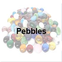glass mosaic pebbles gemstones
