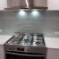 silver textured glass splashback