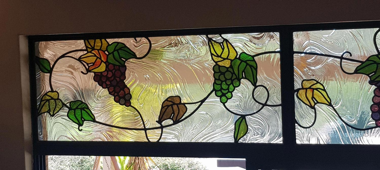grapevine leadlight stained glass