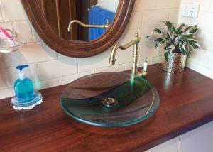 custom glass basin