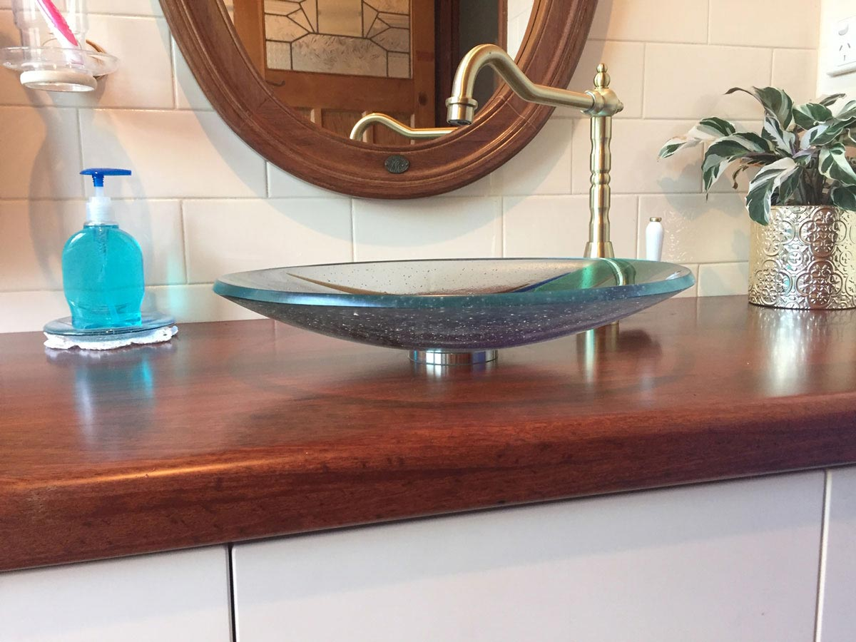 custom-made glass basin