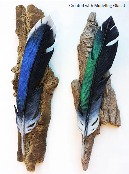 modeling glass feathers