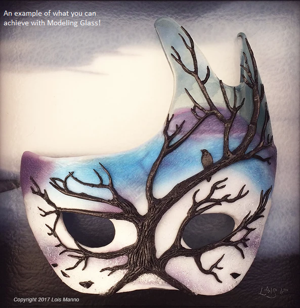 glass mask from modeling glass
