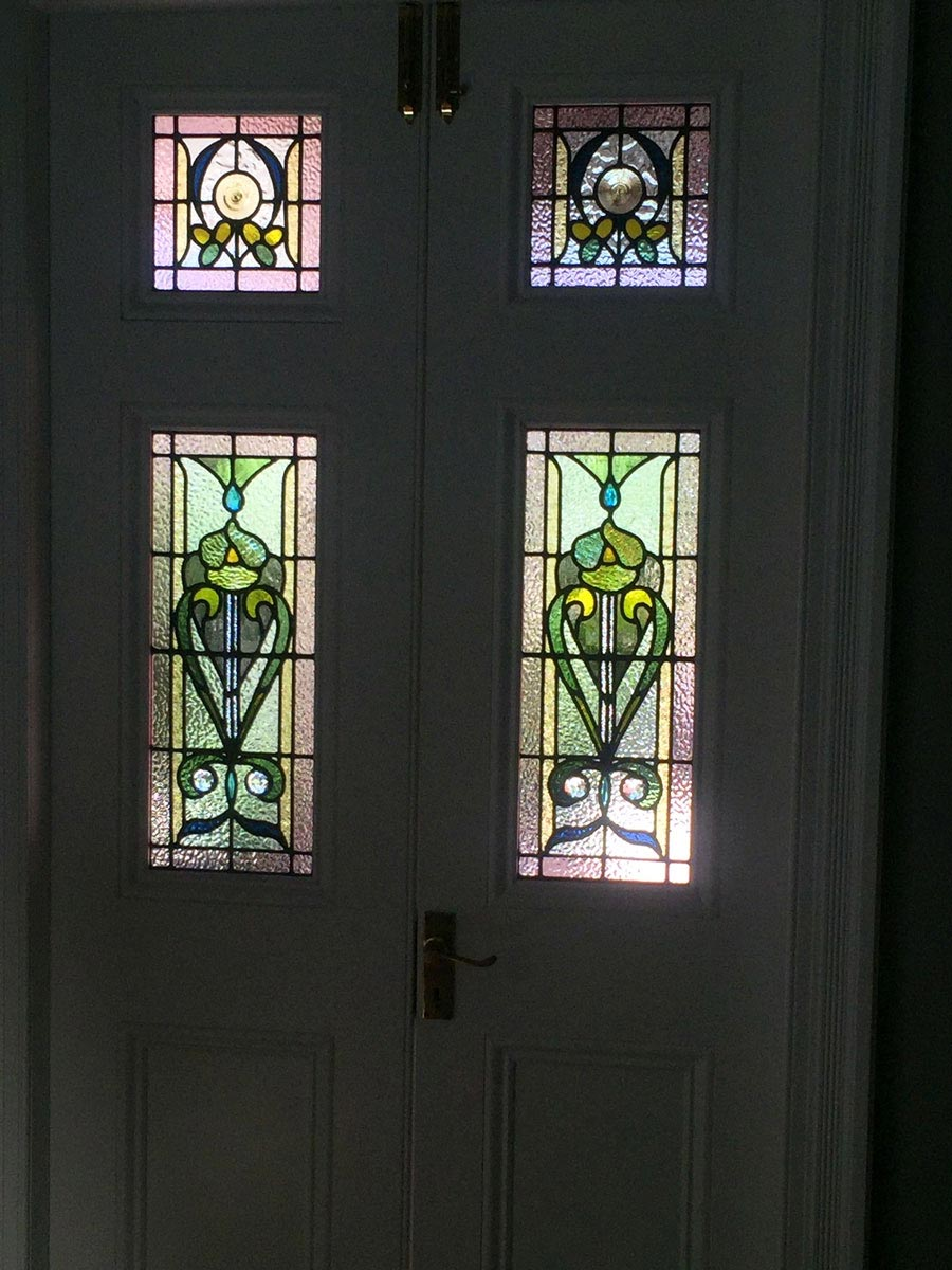 federation widows stained glass