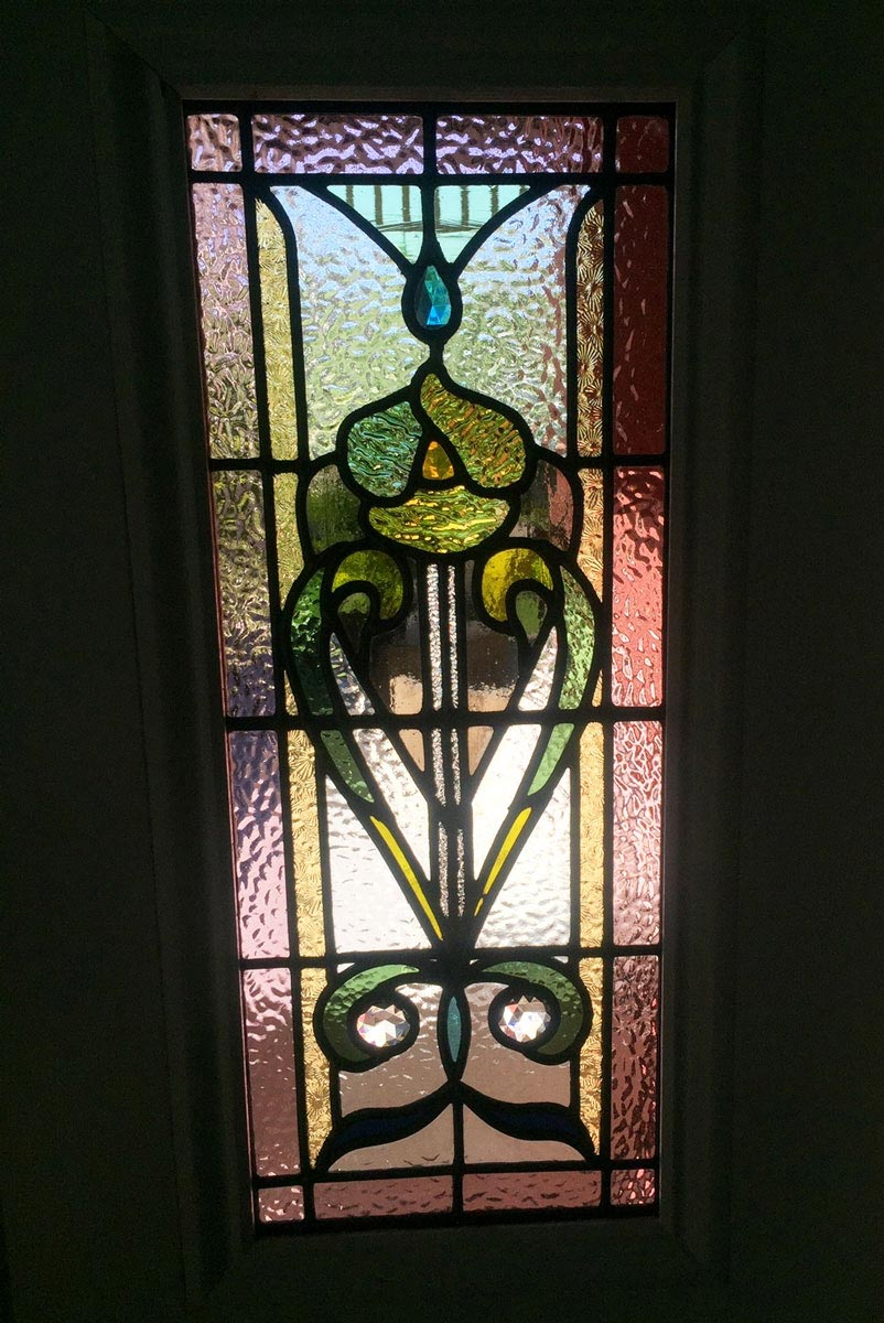 federation style stained glass door
