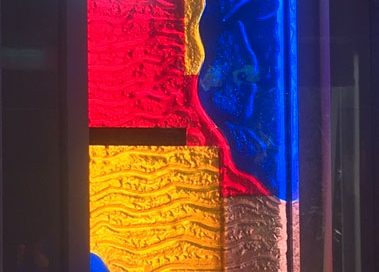 fused coloured glass window