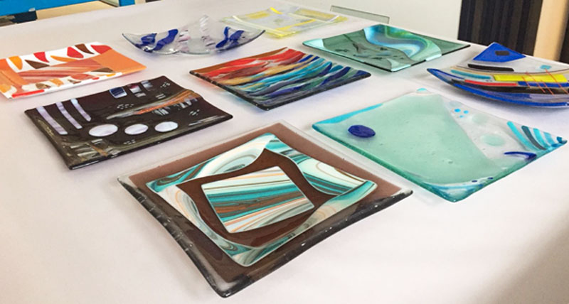 fused glass platter course banner