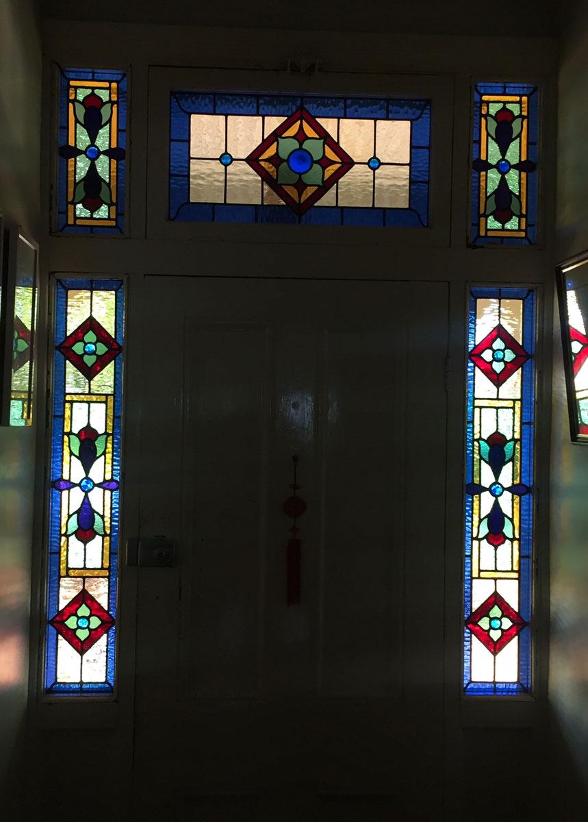 victorian leadlight door entrance