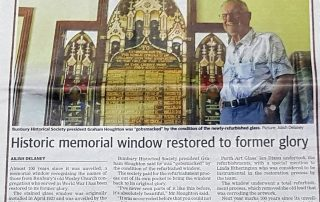 news article of restoration project