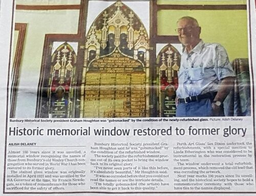 Historic memorial window restored to former glory