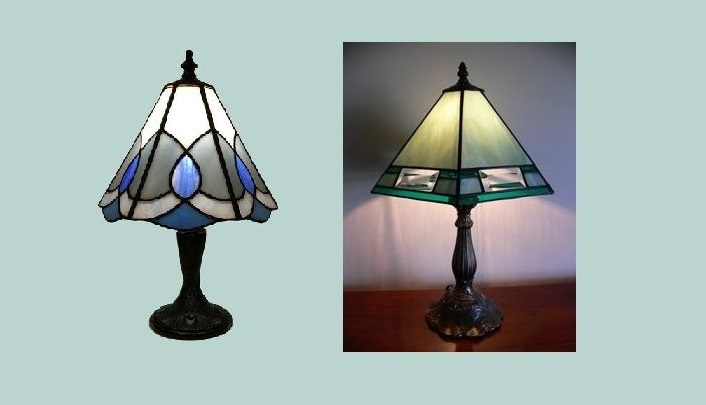 stained glass lamp banner